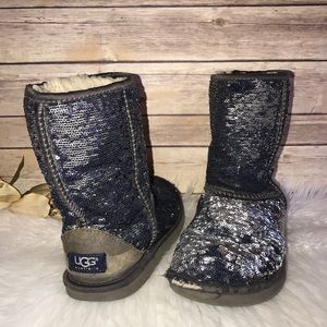 UGG Classic Sparkles Sequined Shearling Boots 6